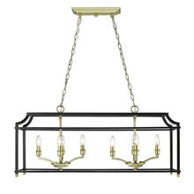 Golden 8401-LP SB-BLK - Linear Pendant